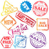 Sale stamps Royalty Free Stock Photo
