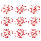 Sale stamps collection Royalty Free Stock Photography