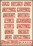 Sale stamps grunge. All grunge sale stamps. the color is changeable Vector Illustration