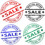 Sale stamps Stock Photo