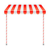 Sale Stand with Red Awning Stock Photo