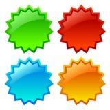 Sale star icon Stock Photos