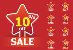 Sale star stickers Stock Photo