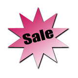 Sale Stared Banner royalty free stock photo