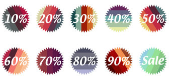 Sale stars Stock Images
