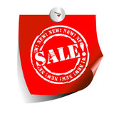 Sale sticker. This illustration can be used for your design Royalty Free Stock Photo