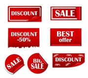 Sale Sticker, Banner Template Set Vector Royalty Free Stock Photography