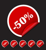 Sale Sticker, Banner Template Set Vector Royalty Free Stock Photo