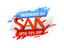 Sale sticker or label for American Independence Day celebration. Royalty Free Stock Photos