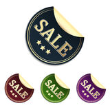Sale sticker or label. In elegant design and different colors Stock Image