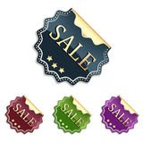Sale sticker or label. Set of sale sticker or label in elegant design and different colors Stock Image
