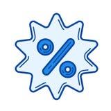 Sale sticker line icon. Stock Photos