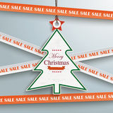Sale Sticker Lines Christmas Price Sticker. Sale sticker with lines on the grey background Stock Images