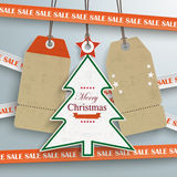 Sale Sticker Lines Christmas Price Stickers. Sale sticker with lines on the grey background Royalty Free Stock Photography