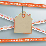 Sale Sticker Lines House Price Sticker PiAd. Sale sticker with lines on the grey background. Eps 10 vector file Royalty Free Stock Photo