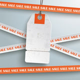 Sale Sticker Lines White Price Sticker. Sale sticker with lines on the grey background Stock Photography