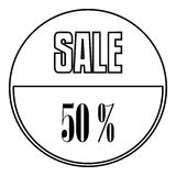 Sale sticker 50 percent off icon, outline style. Sale sticker 50 percent off icon. Outline illustration of sale sticker 50 percent off vector icon for web vector illustration