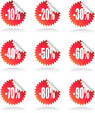 Sale Sticker Set Royalty Free Stock Image