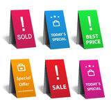 Sale sticker set. Sale sticker and business set Stock Images