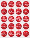 Sale sticker set. Isolated on white background. EPS 10 . Red stickers on white backgrounds. SALE stickers vector illustration