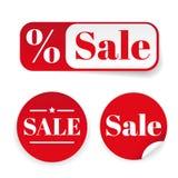 Sale sticker set label Royalty Free Stock Photography