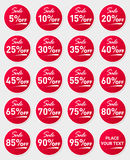 Sale sticker set.  on white background. EPS 10 . Stock Images