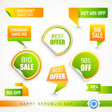 Sale sticker, tag or label for Indian Republic Day. Stock Photography