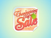 Sale sticker, tag or label for Thanksgiving Day Celebration. Royalty Free Stock Photos