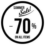70% Sale Sticker Template royalty free illustration