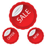 Sale sticker template. This is  sticker template use in any size Royalty Free Stock Photos