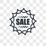 Sale sticker vector icon isolated on transparent background, Sale sticker logo design. Sale sticker vector icon isolated on transparent background, Sale sticker Stock Images