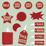Sale stickers Royalty Free Stock Image