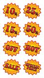 Sale stickers Royalty Free Stock Images