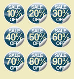 Sale stickers #2 Royalty Free Stock Image