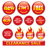 Sale stickers #2 Stock Images