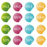 Sale stickers Stock Photo