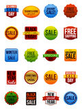 Sale Stickers. A set of sale stickers for the winter holidays Stock Photo