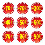Sale stickers #3 royalty free illustration