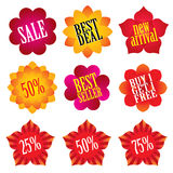 Sale stickers Royalty Free Stock Photography