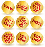 Sale_stickers royalty free illustration
