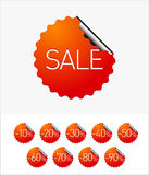 Sale stickers. EPS 10 Vector: Sale stickers Royalty Free Stock Photo