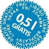Sale Stickers Gratis. Sale Sticker, discount, 0,5 l Gratis, blue Royalty Free Stock Images