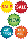 Sale stickers and labels Royalty Free Stock Images