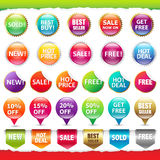 Sale Stickers And Labels Stock Photos