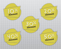 Sale stickers and labels with Sale up to 10 - 50 Stock Image