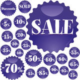 Sale stickers, part 2 Royalty Free Stock Image