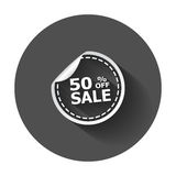Sale stickers 50% percent off. Stock Images