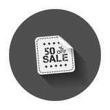 Sale stickers 50% percent off. Royalty Free Stock Photography