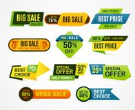 Sale stickers. Price tag label. Banner sticker or abstract flyer. Graphic for offer labels design template vector
