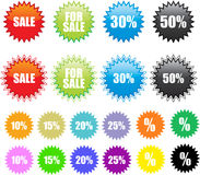 Sale stickers set Royalty Free Stock Images